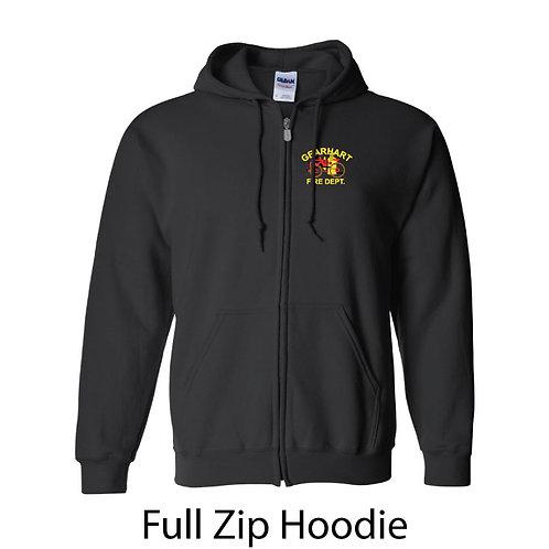 Full Zip Hooded Sweatshirt Embroidered