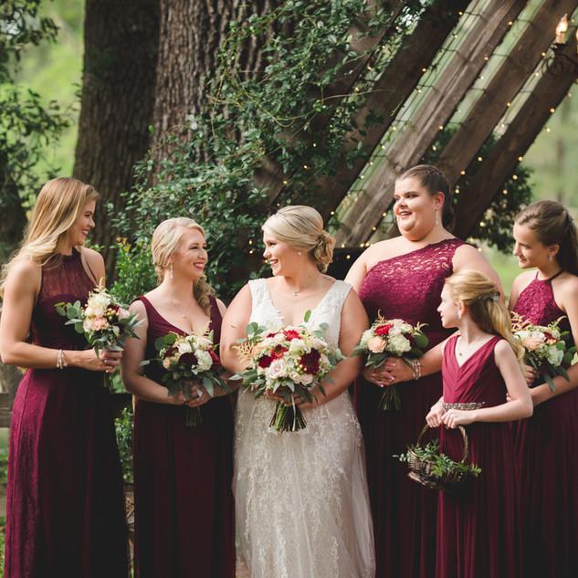 18- Burgundy Wedding Bouquets