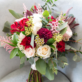 15- Burgundy and Blush Bouquet