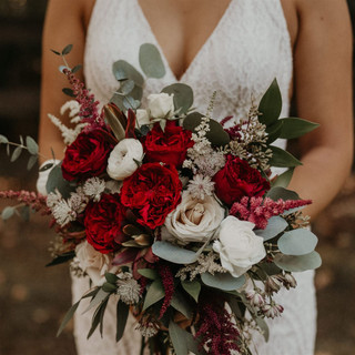 21- Burgundy Bridal Bouquet