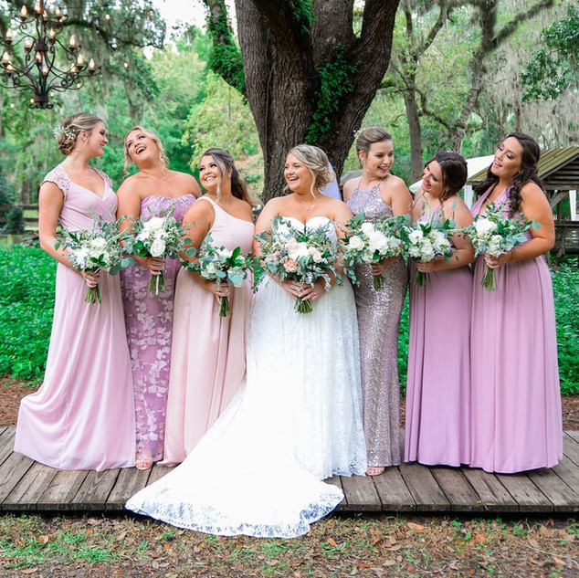 8- Ivory and Blush Wedding Bouquets