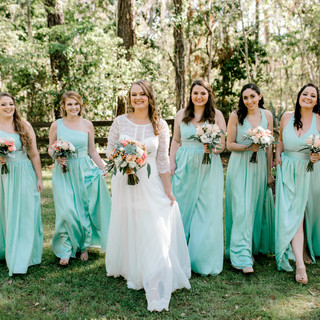 4- Mint and Peach Wedding