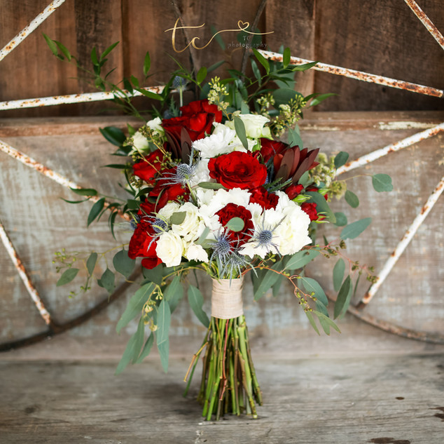 17- Red and White Bouquet