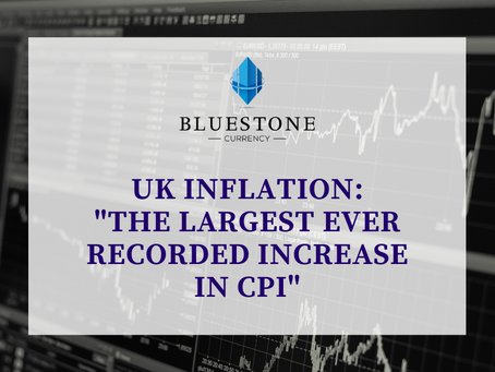 """UK Inflation: """"The Largest Ever Recorded Increase in CPI"""""""