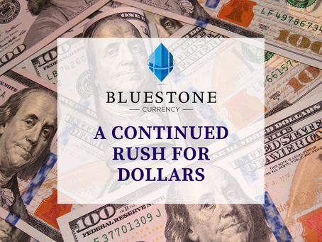A continued rush for US dollars