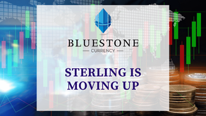 Sterling is moving up