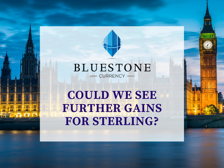 Could we see further gains for Sterling?