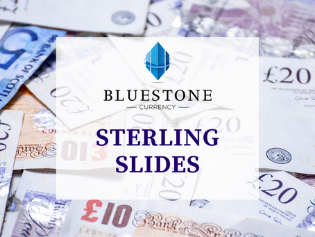 Sterling worst-performing currency in the G10