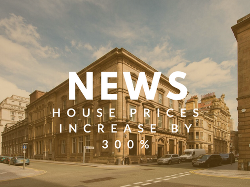 House prices increase by 300% in 20 years