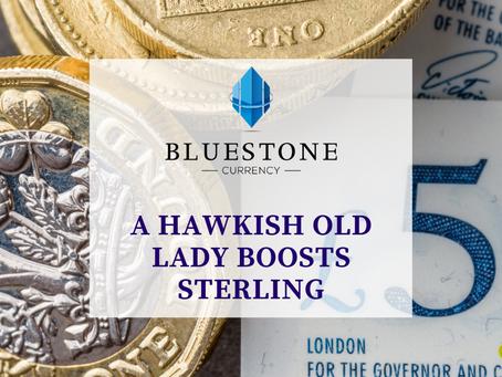 A hawkish old lady boosts sterling