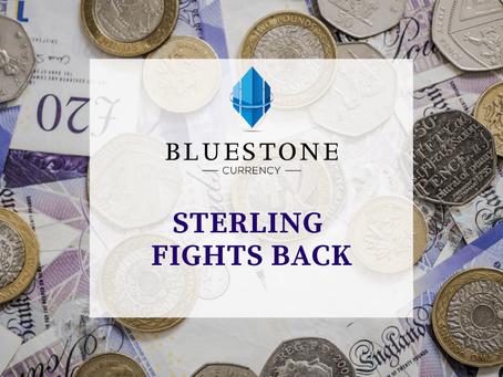 Sterling fights back