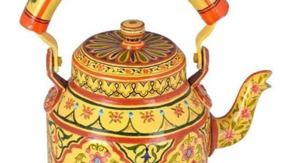 Hand painted kettle in Saura Art