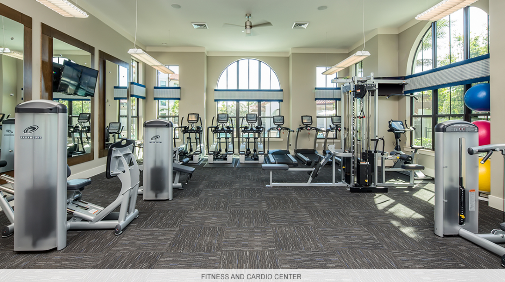 Fitness and cardio center.