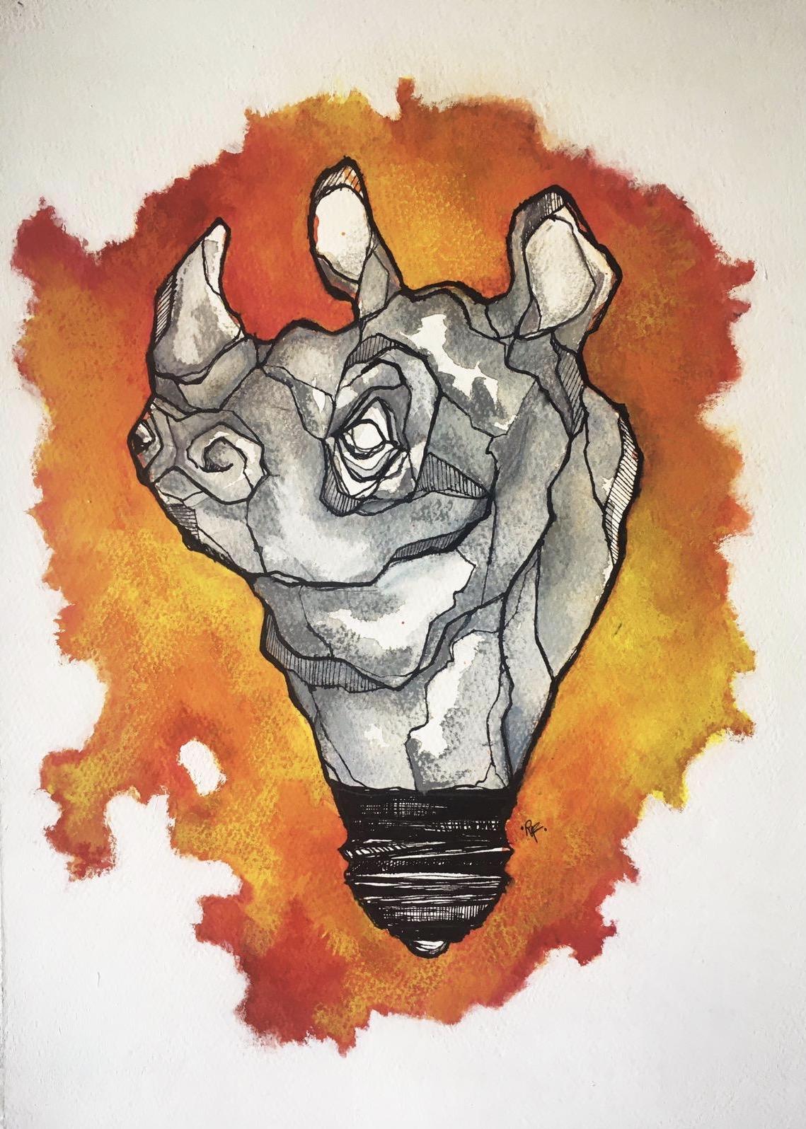Rhino bulb Roberta Formisano