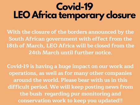 LEO Africa Temporary Closure - Covid-19