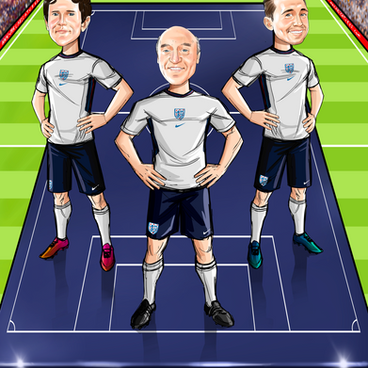 Football Lineup Caricature