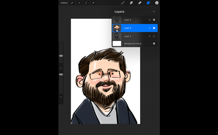Caricatures at virtual events