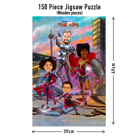 150 piece Jigsaw puzzle dimensions