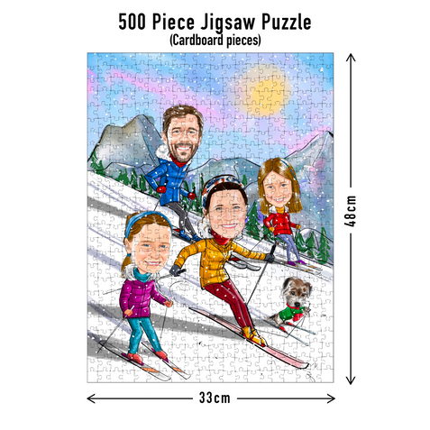 500 piece Jigsaw puzzle dimensions