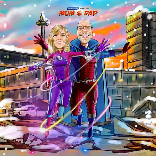 MK Superhero Caricature
