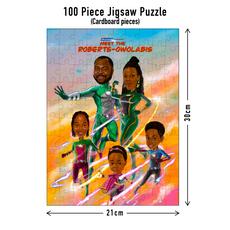 100 piece Jigsaw puzzle dimensions