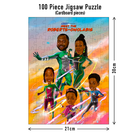 100 piece Jigsaw puzzle dimensions