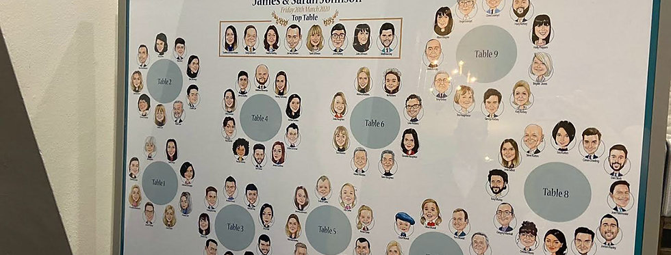 Guest Caricature Seating Plan Only