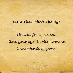More Than Meets The Eye - Haiku