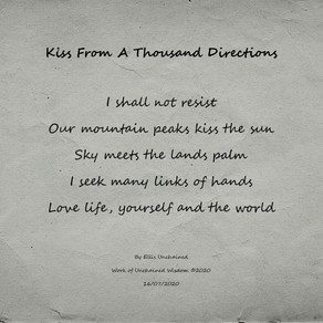 Kiss From A Thousand Directions - Tanka