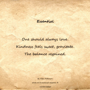 Essential (Haiku)