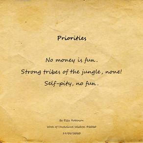 Priorities (Haiku)