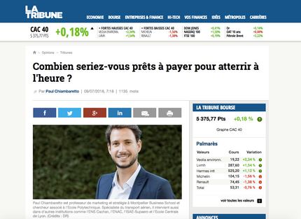 My latest article in La Tribune on on-time performance