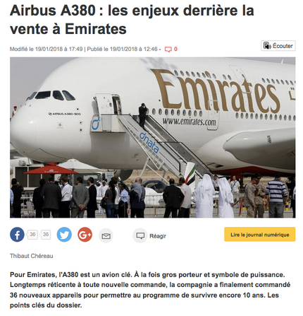 My interview in Ouest France about the A380