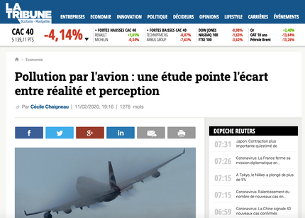 My interview in La Tribune about the environmental challenges faced by airlines