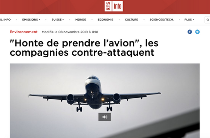 My interview on RTS about airlines' reactions to flight shaming