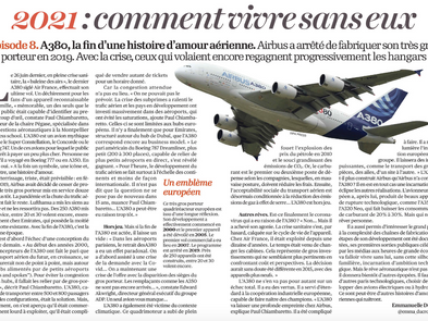 My interview in L'Opinion regarding the retirement of the Airbus A380