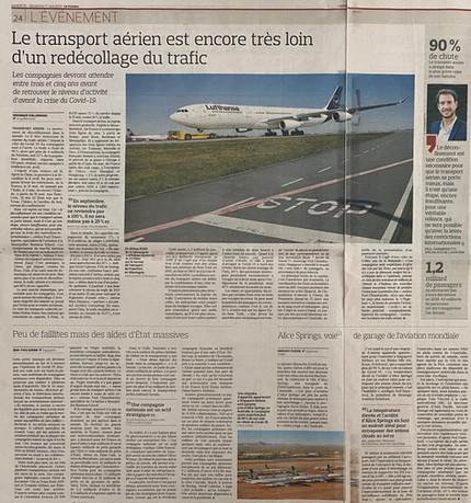 My interview in Le Figaro regarding the recovery of air transport after the Covid19 crisis