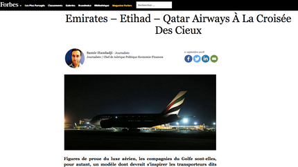 My interview in Forbes on Gulf Carriers