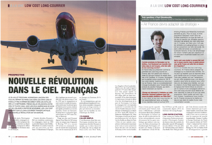My interview in Air & Cosmos on long-haul low cost carriers