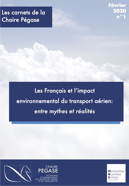 """Our first report by the """"Chaire Pégase"""" on the perception of French people regarding the e"""
