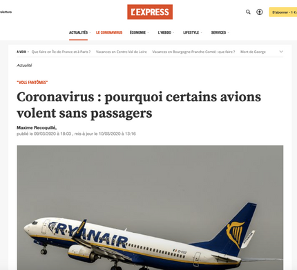 """My interview in L'Express regarding the so-called """"ghost flights"""""""