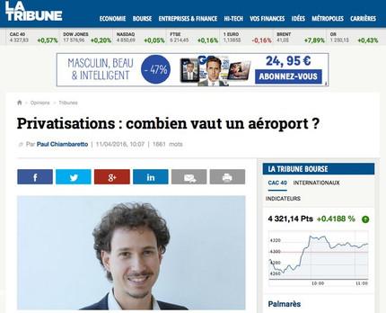 New article in La Tribune on airport privatization
