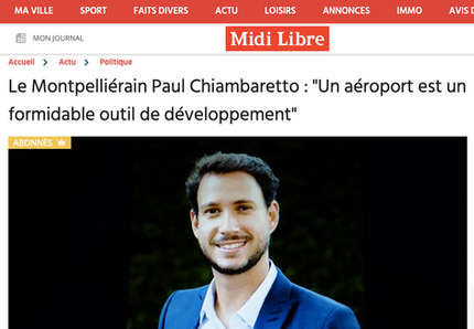 My interview in Midi-Libre regarding the role of regional airports in the South of France