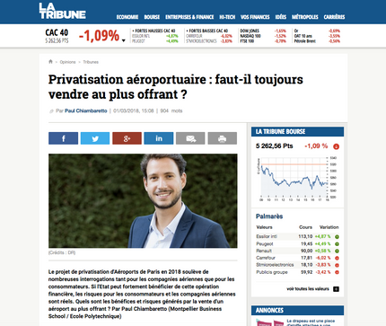 My latest article in La Tribune on airport privatization