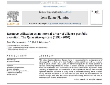 My research article on alliance portfolio evolution