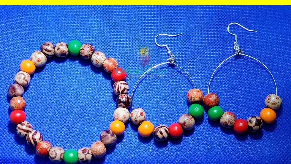M.F.M Bracelets/ Earring Set