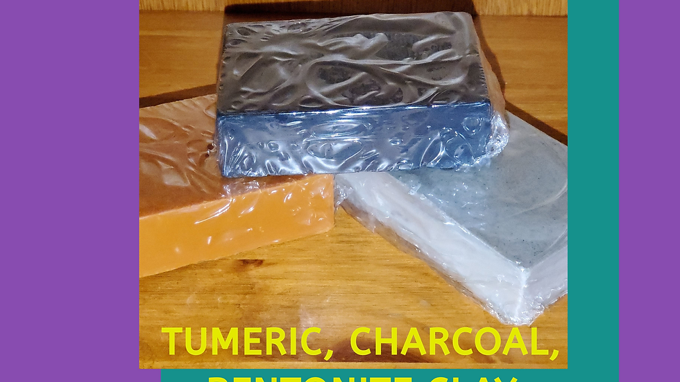 Tumeric, Charcoal, Bentonite Clay Soap Bundle