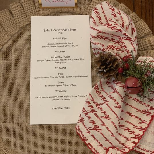 december 2019 dinner