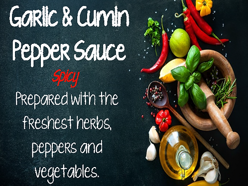 Garlic Cumin Spicy Pepper Sauce