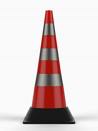 Конус сигнальный дорожный КС-3.10 (с утяжелителем)